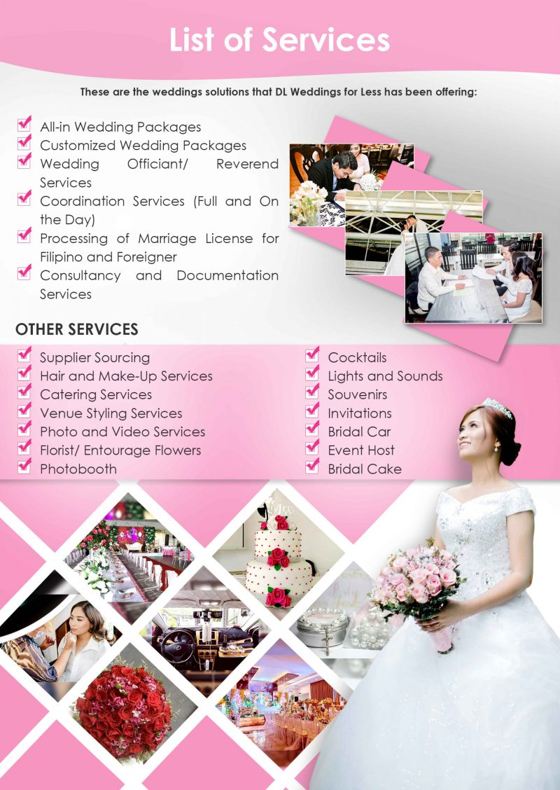 dl weddings - services