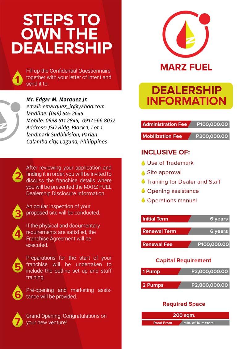 marz fuel - steps